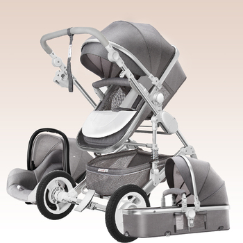 Luxury Baby Stroller High Landscape Baby Stroller 3 in 1 Travel Pram Trolley Baby Carrier Carriage Stroller with Car Seat baby carriage high landscape stroller baby trolley lightweight stroller for baby pram baby stroller multi angle