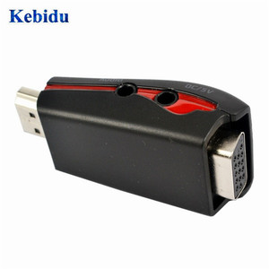Image 4 - KEBIDU HDMI to VGA Video Converter Box Adapter Adaptor with 3.5mm AV Audio Cable For PC HDTV For PS3 DVD black/white