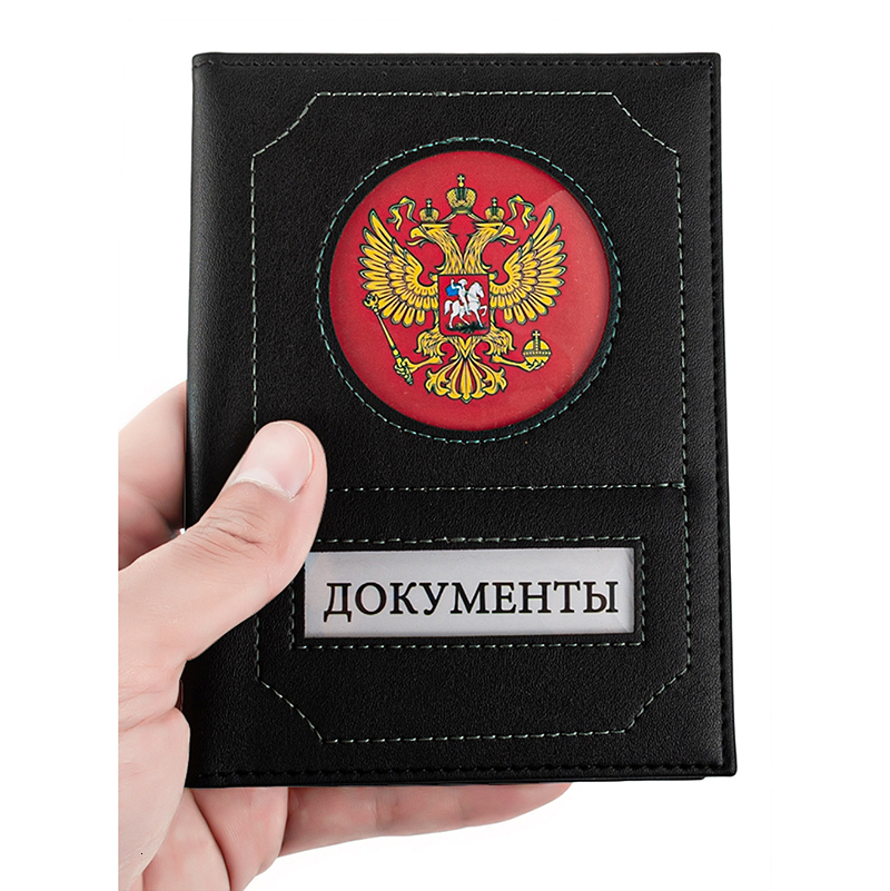 PU Leather Covers For Auto Documents With Transparent PVC Auto-document Insert ID Holders Cases Covers For Documents
