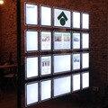 (Упаковка/12 единиц) A3 односторонний агент по недвижимости светодиодный светильник окно коробка поставщик интерьерные дисплеи