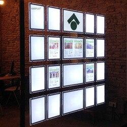 (Opakowanie/12 jednostek) A3 jednostronny Agent nieruchomości LED okno podświetlana tablica dostawcy wnętrz w Oświetlenie reklamowe od Lampy i oświetlenie na