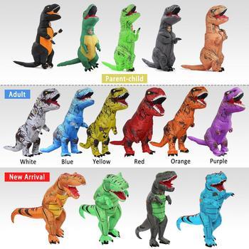 Yetişkin t-rex Trex şişme dinozor kostüm Cadılar Bayramı havaya uçurmak Kostüm Kadınlar için Erkekler Hayvan Cosplay Parti Fantasia Disfraces