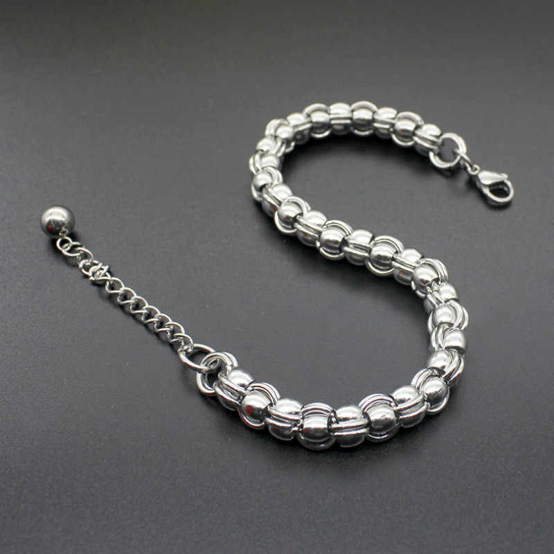 Pulseiras de corrente cubana para homens mulheres punk hip hop masculino pulseira de aço inoxidável pulseira pulseira de jóias pulseras mujer moda