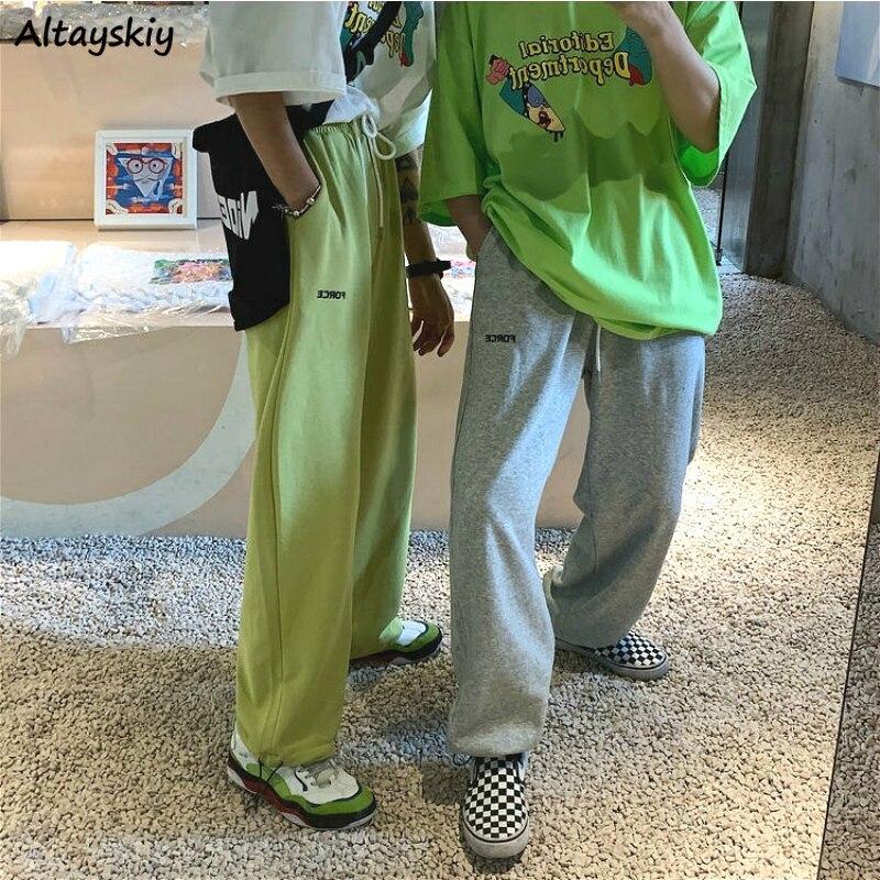 Женские брюки Harajuku Chic BF Style Boyfrind унисекс для пар подростков уличная мода повседневные Мягкие Летние брюки с высокой талией для тренировок