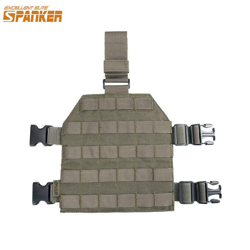 EXCELLENT ELITE SPANKER Outdoor Hunting Universal Molle Legs Hanging Plate Military Camo Jungle Tactical Combat Equipment|equipment - title=