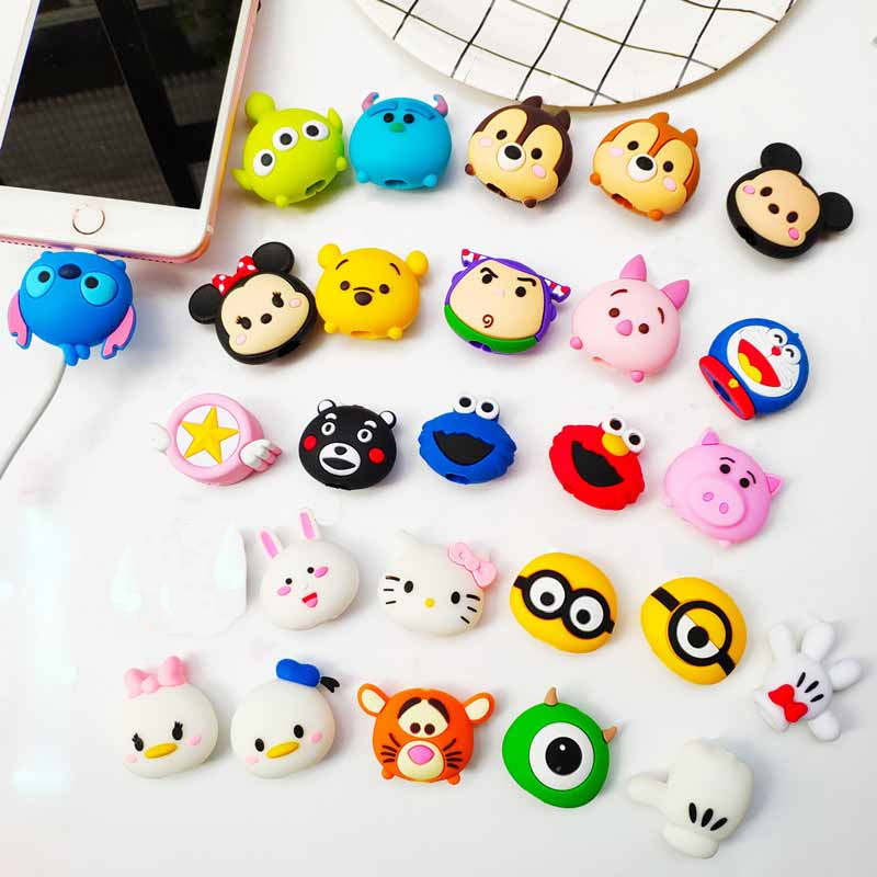 Image 3 - Wholesale Socket Car Phone Holder Cartoon Protector Cable Cord Saver Cover Coque For iPhone 8 Plus 5 5S 5C 6 6S 7 X Xs Max XR-in Phone Holders & Stands from Cellphones & Telecommunications