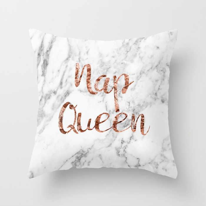 Funda de almohada con monograma I Love You, 45x45, cubierta de cojín estampada con diseño de flamenco, elefante, unicornio, nórdico, letras doradas, decoración para el hogar