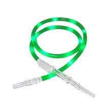 178cm Length Plastic Tip Silicone Hookah Hose  Multicolor Shisha Pipe Luminous Accessories For Smoking Vaporizer