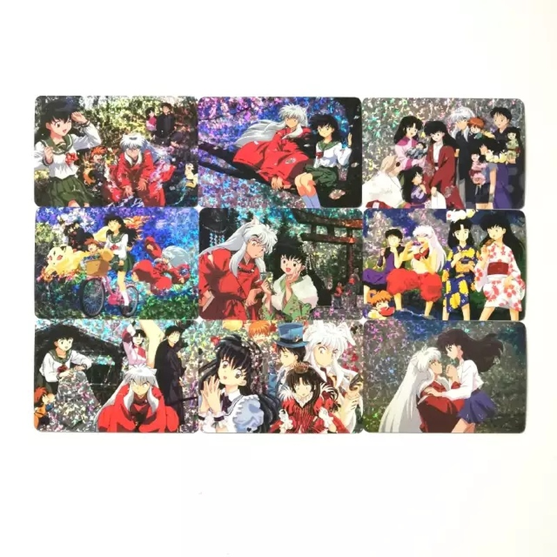 9pcs/set Inuyasha Toys Hobbies Hobby Collectibles Game Collection Anime Cards Free Shipping
