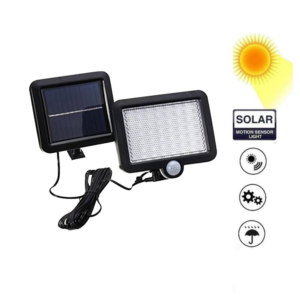 56/30 LEDs Solar Panel Light Split Separate PIR Motion Sensor Solar Garden Lamp Outdoor Waterproof Powered Street Wall Light Spl