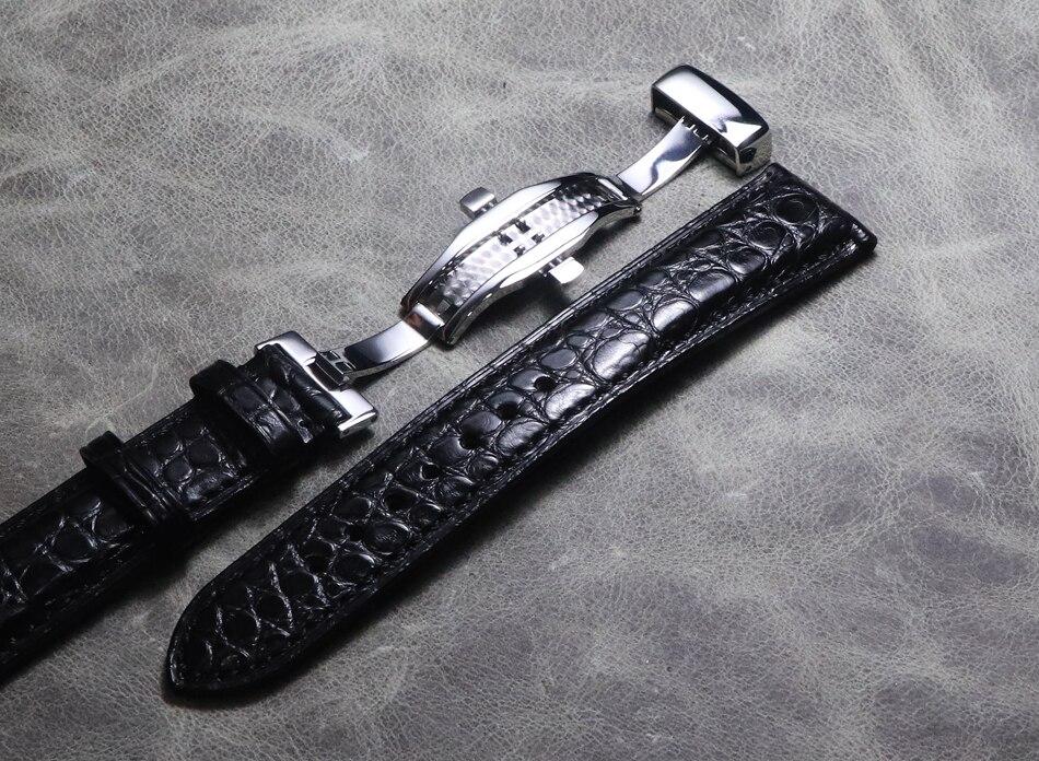 Image 5 - Ремешок для часов 18, 19 мм, 20 мм, 22 мм, 21 мм, высокое качество, Крокодиловая Кожа, мягкий ремешок из натуральной кожи, черный, коричневый, ремешки для часов Omega Mido-in Ремешки для часов from Ручные часы on AliExpress - 11.11_Double 11_Singles' Day