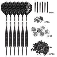 Puntas suaves de dardos profesionales de 20g, puntas de plástico, barra de cobre, eje de aluminio, 6 piezas/1 Juego