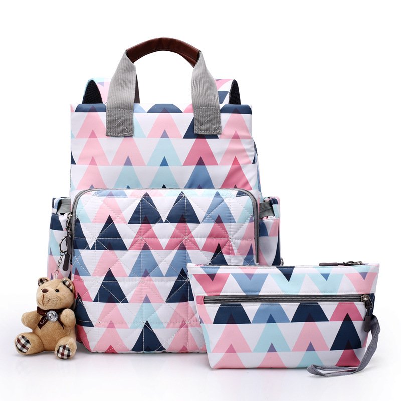 Cross Border For Korean-style Diaper Bag Multi-functional Large-Volume MOTHER'S Bag Waterproof Diaper Bag Nursing Backpack