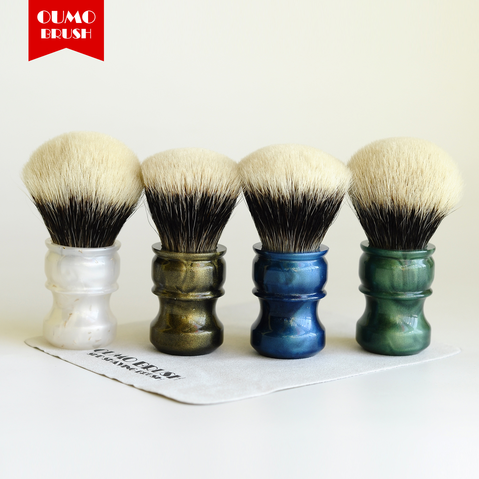 OUMO BRUSH-Fans Exclusive Limit Fan Handmaster Finest Badger Hair Knots Shaving Brush