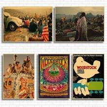 Woodstock rock music festival/retro craft paper decorative painting posters classic poster vintage paper craft