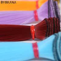 Peluca de fibra larga y recta de alta temperatura de 15cm * 100cm 25cm * 100cm BJD SD de Bybrana, pelo DIY para muñecas
