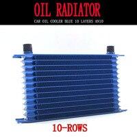 Universal 10 linha azul óleo cooler an10 interface do motor radiador de refrigeração de óleo modificação
