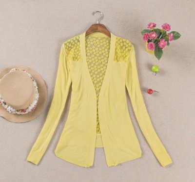Pullover frauen 2020 v-ausschnitt strickjacke aushöhlen spitze einfarbig Europes und Amerika frauen pullover cardigans vestidos LXJ400