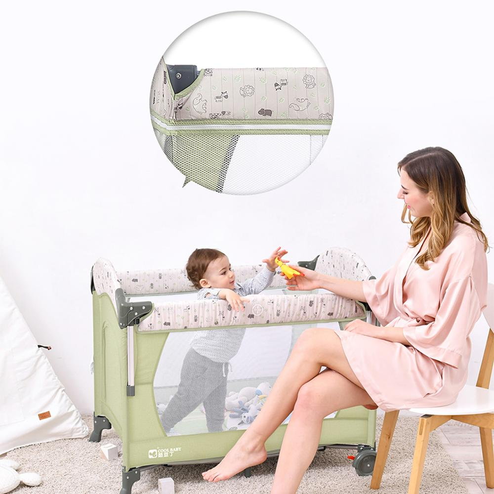 Crib splicing large bed removable bb multi-function portable folding newborn baby bedside bed cradle bed