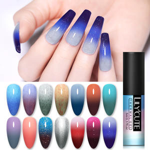 LILYCUTE Varnish Polish Nail-Gel Glitter Changing Holographics Temperature-Color Soak-Off
