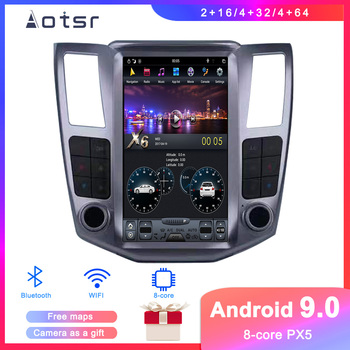 Tesla styel Android 9 Car DVD player GPS Navigation For Lexus RX300 RX330 RX350 2004-2008 Car Auto radio Coche Multimedia player