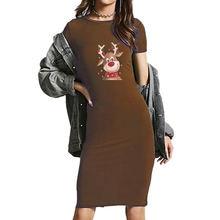 Kawaii короткое платье карандаш с О образным вырезом и коротким
