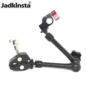"""Image 1 - Jadkinsta 11 """"Cal przegubowe magiczne ramię + 15mm zacisk pręta + duży Super zacisk duże szczypce krabowe klip Monitor HDMI LED Light"""
