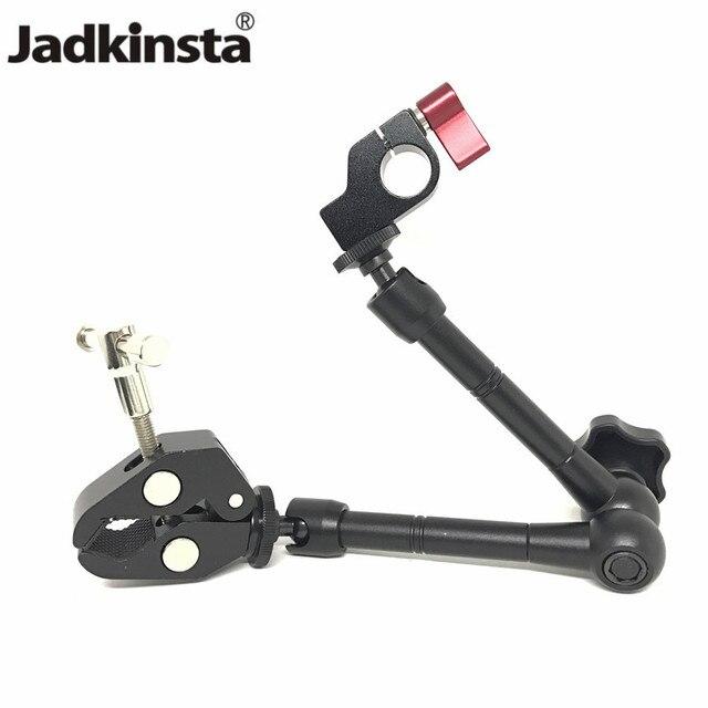 """Jadkinsta 11 """"Cal przegubowe magiczne ramię + 15mm zacisk pręta + duży Super zacisk duże szczypce krabowe klip Monitor HDMI LED Light"""