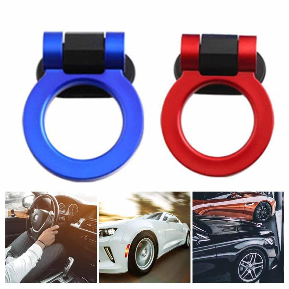 Bonito diseño de anzuelos de remolque, pegatina decorativa para coche, remolque delantero trasero de coche, anillo de carreras de simulación, gancho de remolque de vehículo, 4 colores