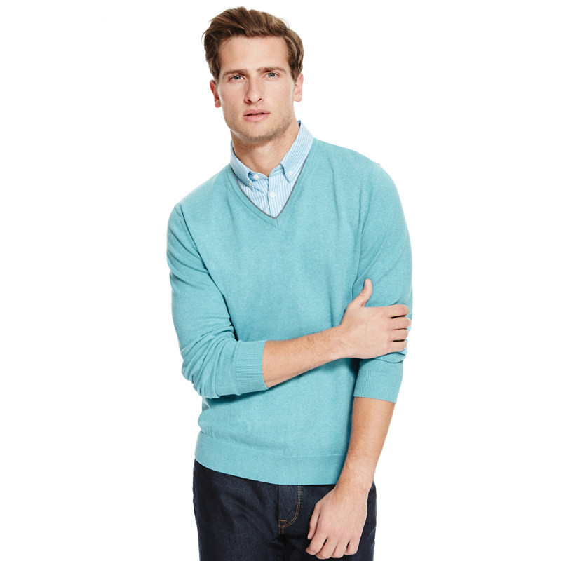 Men's Shirt Collar Sweaters Knitted Fashion Style Sweater Pullover Plus Size Class Hot Sale Europe Size: S-XXL 1144_9765