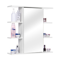 60x60Cm Bathroom Cabinet with Mirror Wall Mounted Bathroom Toilet Furniture Cabinets Cupboard Shelf Cosmetic Storager UK Stock