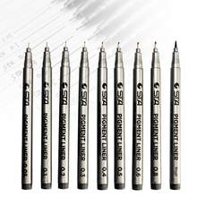 Pigment Liner Pigma Micron Ink Marker Pen Different Tip Black Sketching Pens Hand Drawn High-ranking Pens(China)