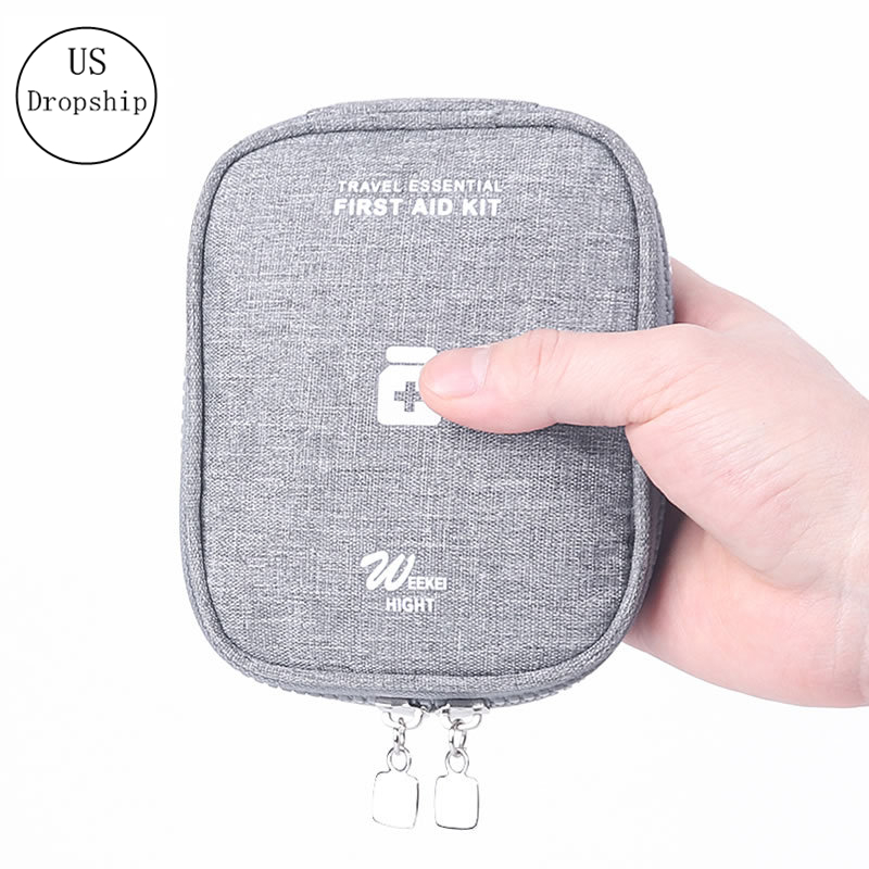 Mini Portable Home First Aid Kit Travel Carry Medicine Package Medical Supply Drug Organizer Medicine Bag Travel Accessories