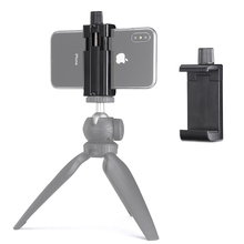 Mobile Phone Tripod Mount Tripod Clamp for iPhone Huawei P30 Pro Universal Phone Clamp цена