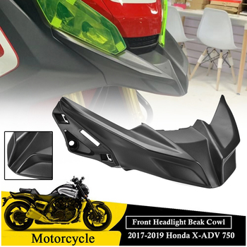Front Lower Headlight Nose Beak Cover Fairing Extension For 2017 2018 2019 Xadv750 XADV 750 X ADV 750 Accessories Motor Parts