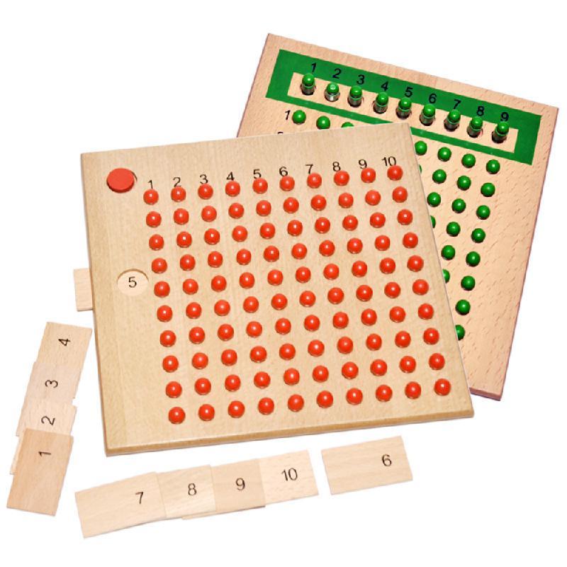 Монтессори обучающая деревянная игрушка умножение и разделение доска из бисера для дошкольников дошкольного возраста-Семейная версия