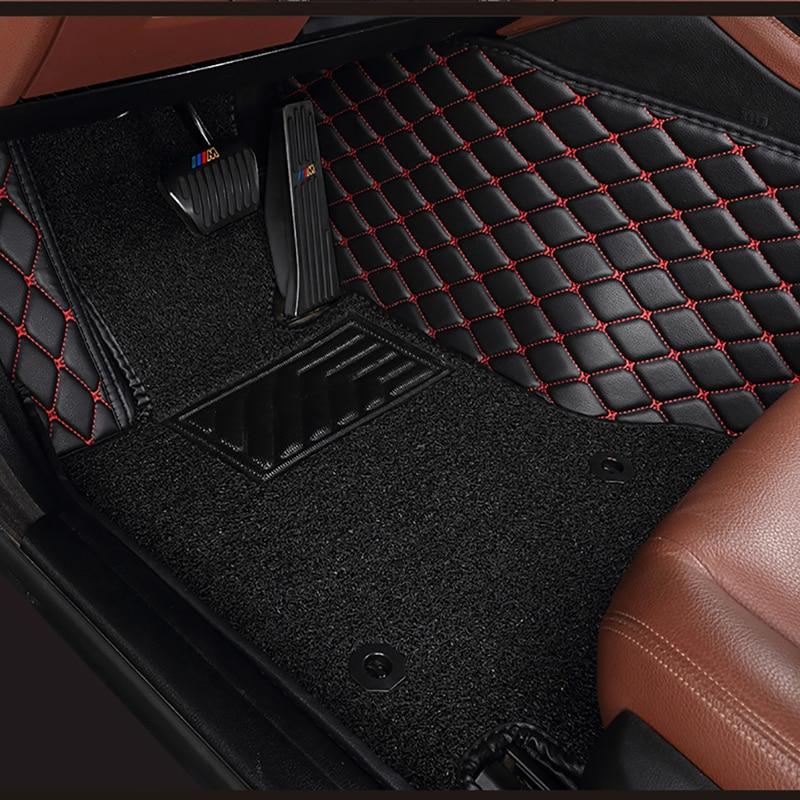 Пользовательские двухслойные автомобильные коврики для volkswagen Touareg Jetta touran tiguan volkswagen Polo Sedan passat b6 b8 golf Все модели 5 сидений