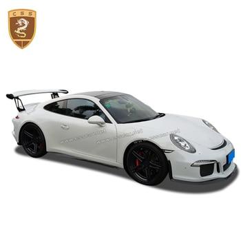 Ajuste para 2014-2016 Porsch 911 991 kits de cuerpo de fibra de carbono alerón trasero parachoques delantero trasero estilo FRP GT3