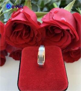 Image 3 - חתונה טבעת רוז זהב טונגסטן טבעת לגברים ונשים להקת 6MM