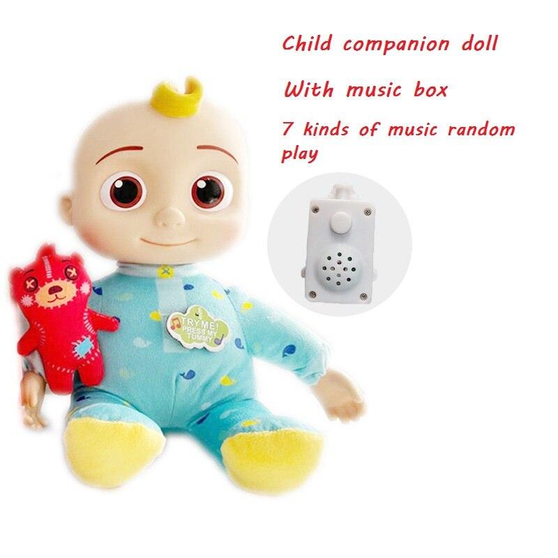 Новая плюшевая кукла Cocomelon, поет музыкальную шкатулку с семью видами музыки, кукла Джоджо, детские игрушки, детская спутница, кукла