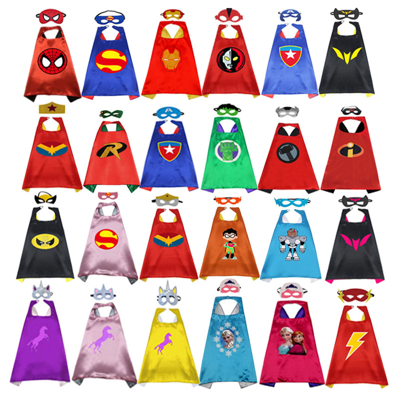 Superhero Cape Mask Superhero Cloak Child Cosplay Costume Superhero   Spider  Cloak Halloween Party Children's Clothing