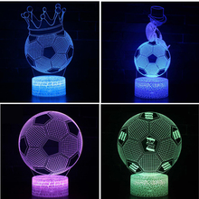 Football series Gift lamp 3D Night light Colorful touch LED lamp Small table lamp Bedside lamp Originality Decorative lamp