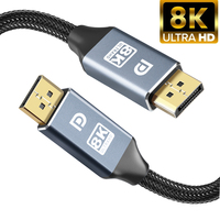 Cavo Displayport 8K DP 1.4 adattatore cavo porta Display per Xiaomi TV Box PS4 PS5 audio Video PC proiettore portatile 1m 2m 3m 5m 4K
