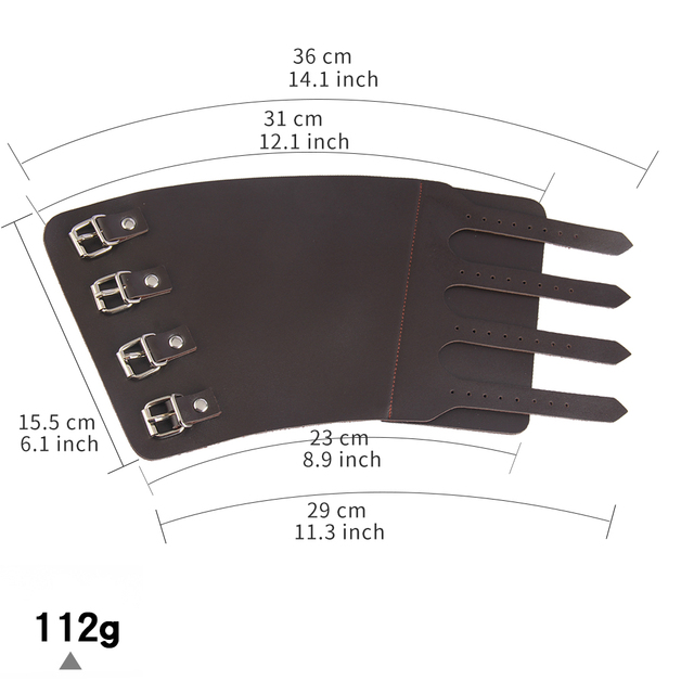 Pu Leather Gauntlet Wide Bracer Arm Armor Wristband Protector Unisex 5