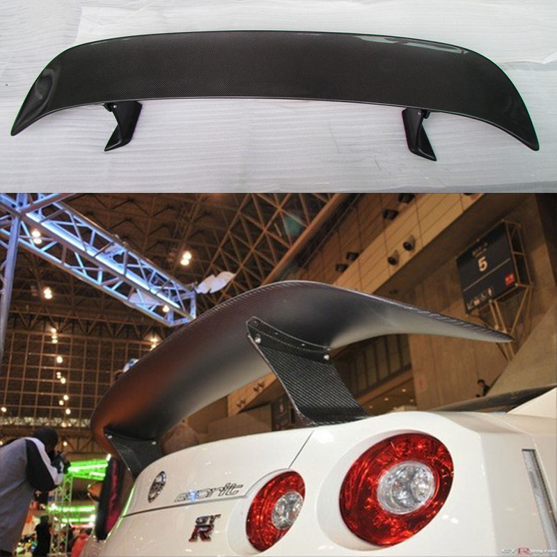 FOR NISSAN GT-R <font><b>GTR</b></font> <font><b>R35</b></font> E STYLE CARBON FIBER <font><b>REAR</b></font> TRUNK WING <font><b>SPOILER</b></font> 2009-2015 image