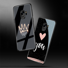 ciciber Heart Flower For Samsung Galaxy S10 S10e S9 S8 Plus S10+ S9+ S8+ Tempered Glass Phone Cases for Note 9 8 Cover