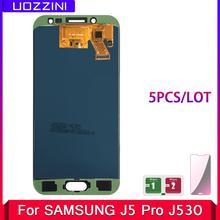 5 sztuk partia 5 2 #8221 calowy LCD Galaxy J530 2017 dla Samsung J5 2017 wyświetlacz ekran dotykowy Digitizer J5 Pro J530 J530F regulowany LCD tanie tanio uozzini Pojemnościowy ekran J5 Pro 2017 J530F SM-J530F LCD i ekran dotykowy Digitizer 1920x1080 3 Black Blue Gold