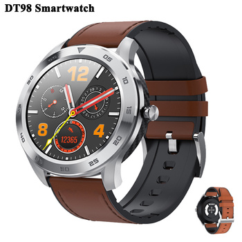 DT98 Bluetooth Call Smart Watch with Full Screen Touch IP68 Waterproof PPG Heart Rate Blood Pressure Monitor for Xiaomi Huawei