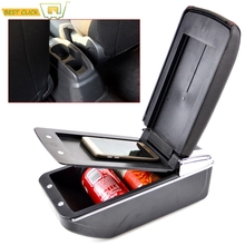 Center Console Storage Box PU Leder Dual Schicht Armlehne Arm Rest Tablett Für Peugeot 301 C Elysee 2012 auf 2013 2014 2015 2016
