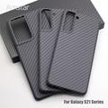 Чехол Amstar из натурального углеродного волокна для телефона Samsung S21 S20 Plus Ultra Note 20 Ultra S10 Plus F7000 Твердый чехол из чистого углеродного волокна